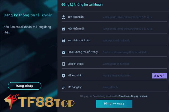 đăng ký tf88 như thế nào - TF88 uy tín không